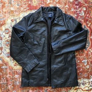 GAP women's leather jacket
